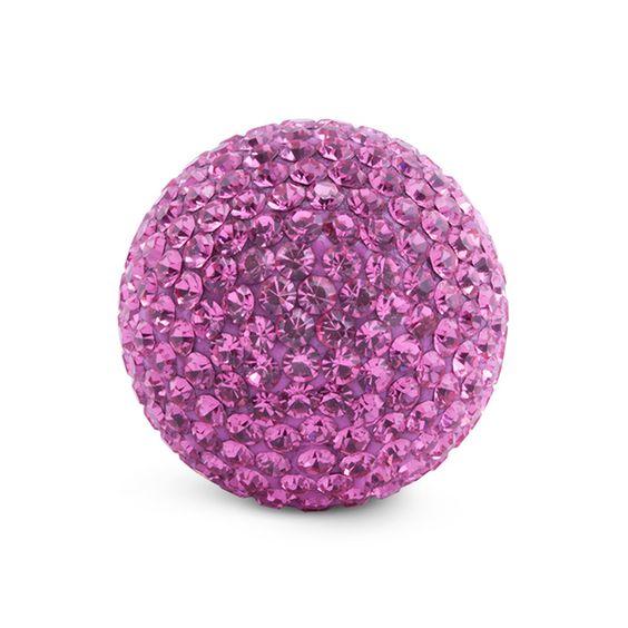 Mehr Sommer und Urlaubsstimmung mit dieser pinkfarbenen Kristallkugel! Erinnert euch die Farbe dieser Kugel auch an blühende Oleanderbäume irgendwo in einer kleinen spanischen Stadt an der Küste?