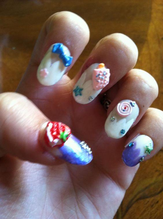 Random kawaii sweets manicure