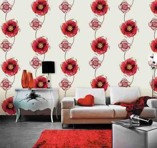 Living room Flowers wallpaper