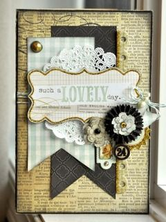 #papercraft #card handmade card, pendants, doily, flowers, Lovely by JodyR at Studio Calico