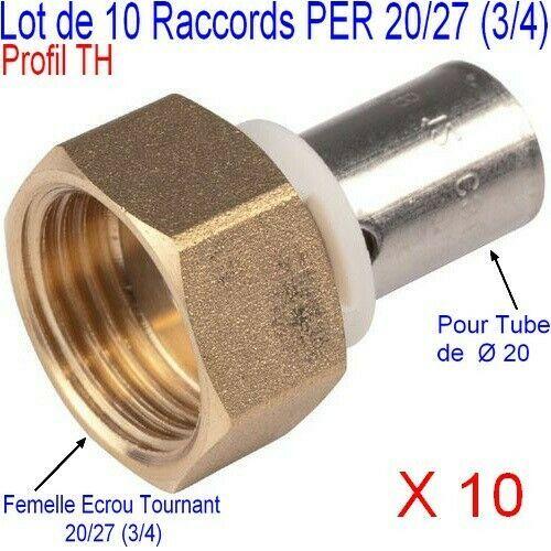 Details Sur Lot 10 Raccords Per Th A Sertir Femelle Ecrou Libre 3 4 Pour O 20 Multicouche Raccord Per Pommeau De Douche Pomme De Douche