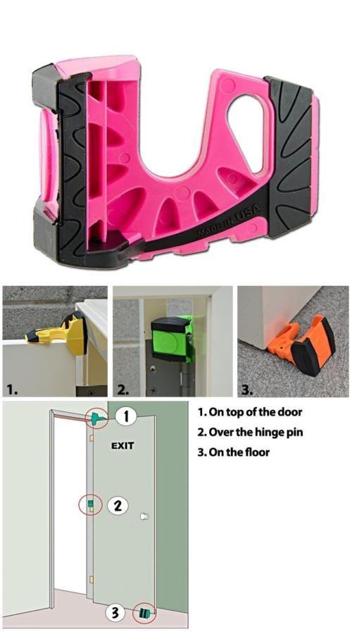 Wedge It 3 In 1 Ultimate Door Stop Heavy Duty Lexan Plastic Rubber Shim Pink 633409008003 Ebay Door Stop Rubber Heavy Duty