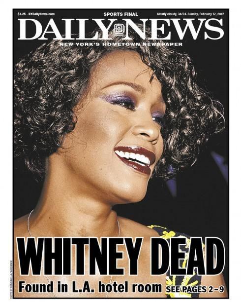 Find It Houston: Newspaper Headline Whitney Houston Dead