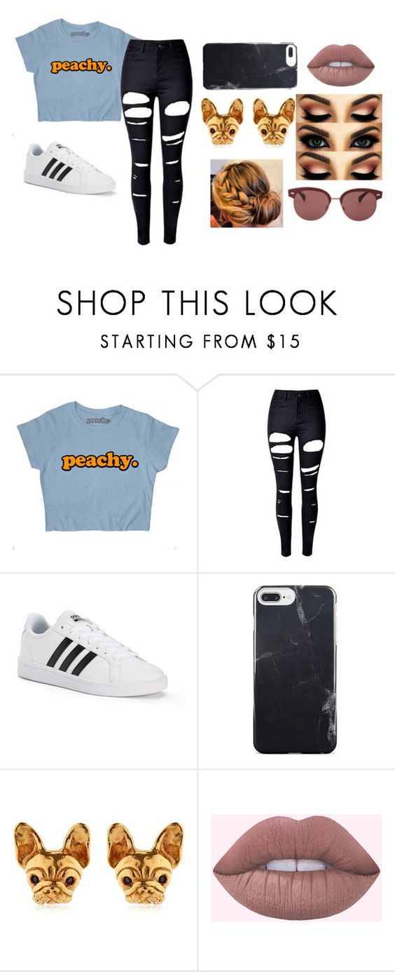 """""""WENDY OUTFIT"""" by jennaw901 on Polyvore featuring WithChic, adidas and Oliver Peoples"""