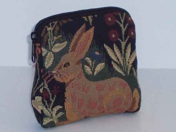 PADDED POUCH Bunny Quail by Bizmo on Etsy