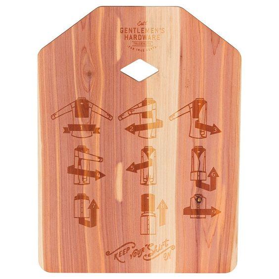 Gentlemen's Hardware Shirt Folding Board design by Wild & Wolf
