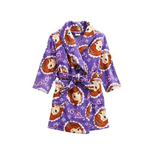 Princess Sofia The First Toddler Girls 4T Fleece Bathrobe Robe