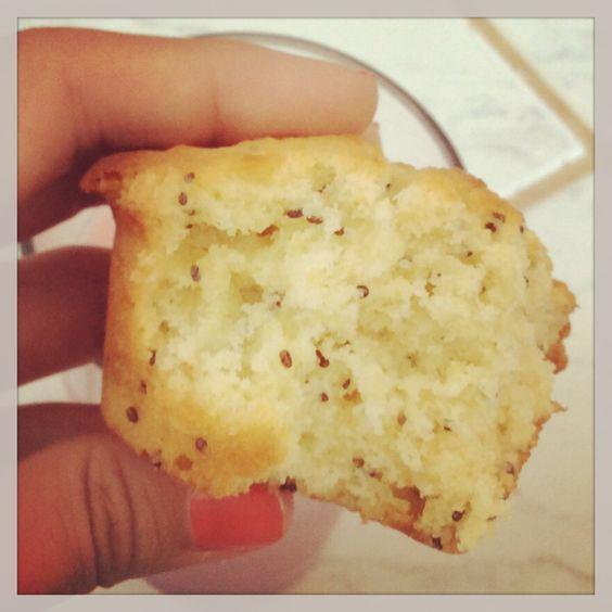 Muffin de limao siciliano com semente de chia