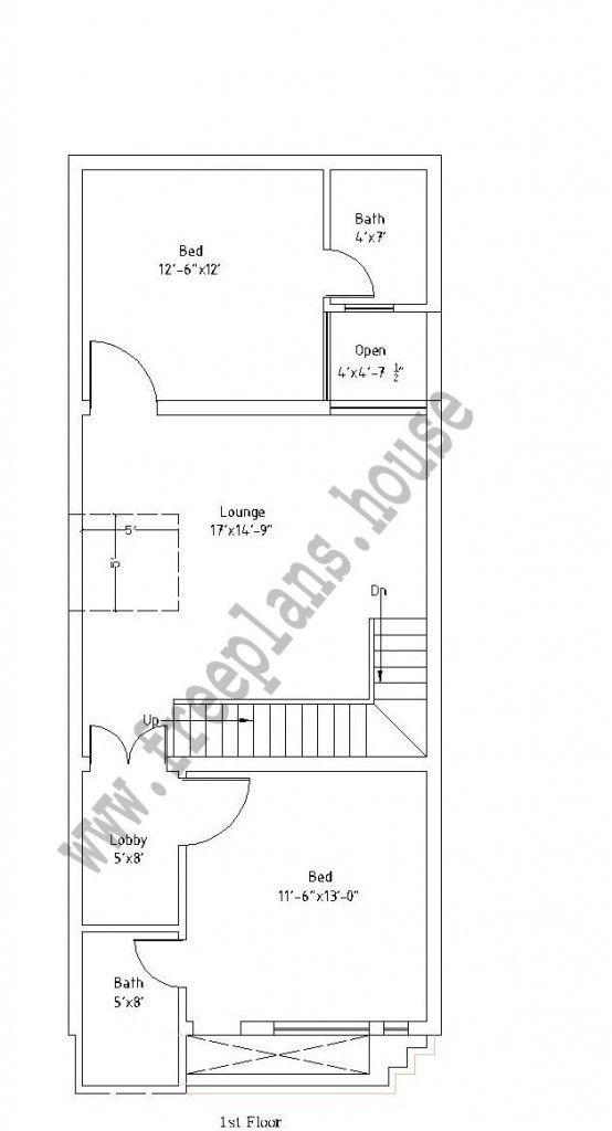 12 X45feet First Floor Plan Simple House Plans Free House Plans My House Plans