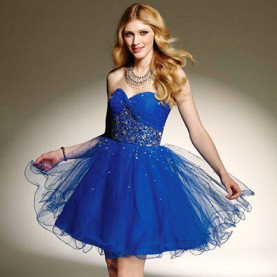 2015 Women Dresses for Party Blue Color - Party Dresses 2015 ...