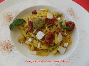 One pan pasta tomate-artichaut DSCN8447