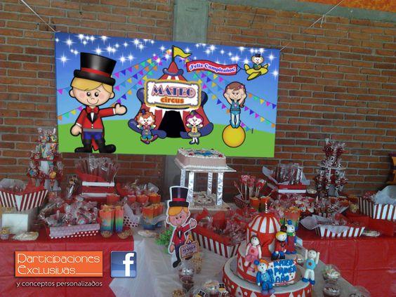 Fiesta temática Circo Infantil!!! #fiestatematica #fiestainfantil #invitaciones #circusparty