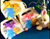 Easter bunny Favor Boxes Found on Etsy