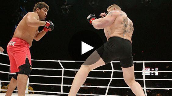 Rare sont les catcheurs qui ont réussi leur reconversion en MMA, Brock Lesnar est l'un d'entre eux