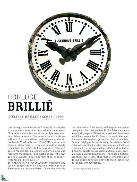 Horloge brilli atelier brilli fr res 1900 industrial for Horloge atelier