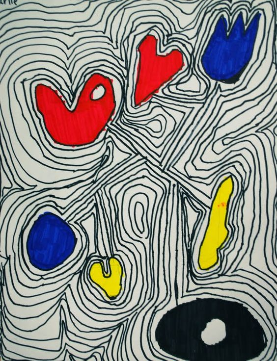 Line Art Grade : Calder grade primary colors line shape use with an