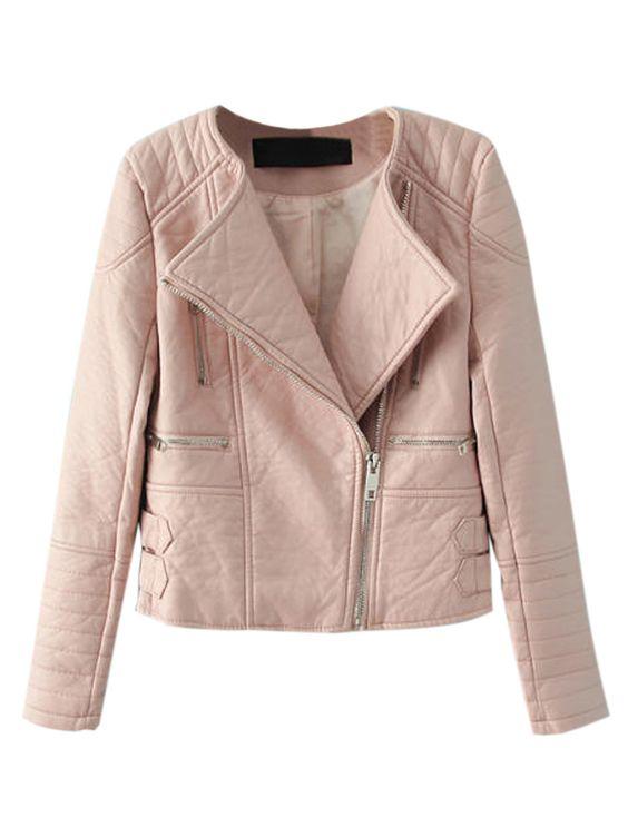 Pink Collarless Jacket - Pl Jackets