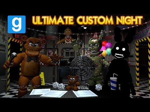 New Ultimate Custom Night Gmod Map Five Nights At Freddy S Garry S Mod Zany Gmod 63 Youtube Five Nights At Freddy S Five Night Night