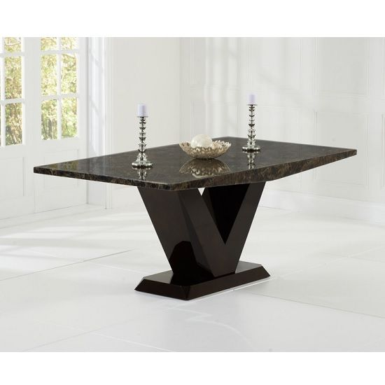 Ophelia Marble Dining Table Rectangular In All Brown Dining Table Marble Marble Top Dining Table Dining Table