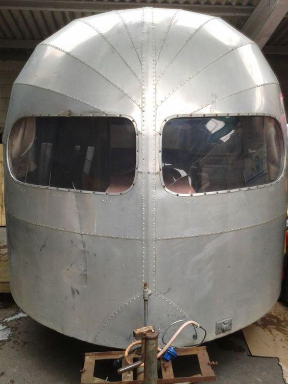 1951 18 foot 'Clipper'  by Silver streak , curtis-wright, Airstream caravan.