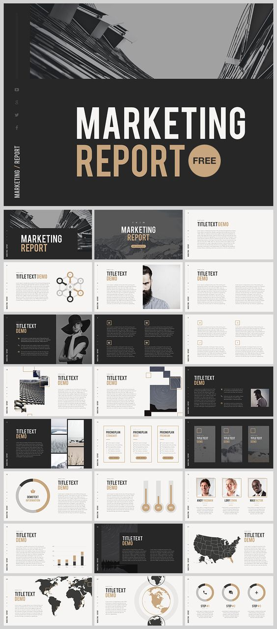 Marketing Report Template Powerpoint  Digitalmarket