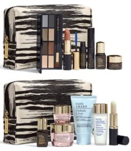 choose between these two Estee Lauder gift sets when you make an Estee Lauder purchase of at $45 or more