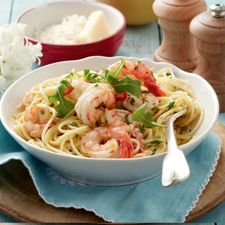 Lemon Chilli Prawn Pasta