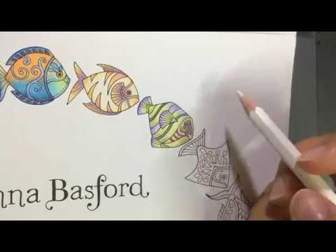 Lost Ocean By Johanna Basford How To Color Fish 3 Youtube Lost Ocean Lost Ocean Coloring Book Basford