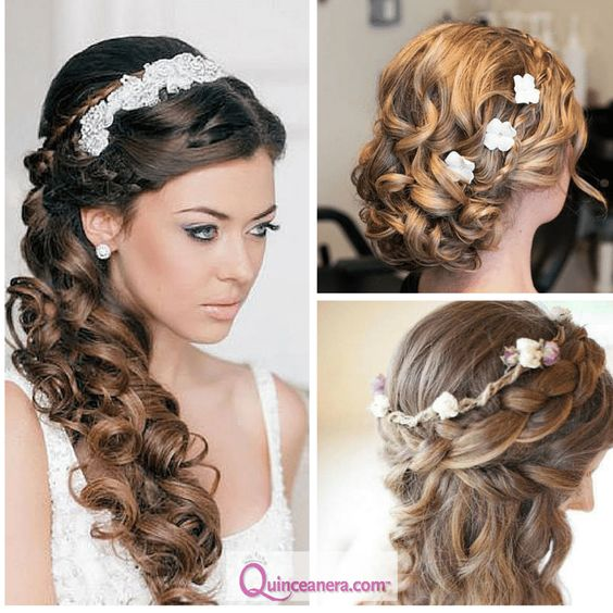 Quinceanera Hairstyle : Quinceanera hairstyles, Hairstyles for curly hair and Curly hair on ...