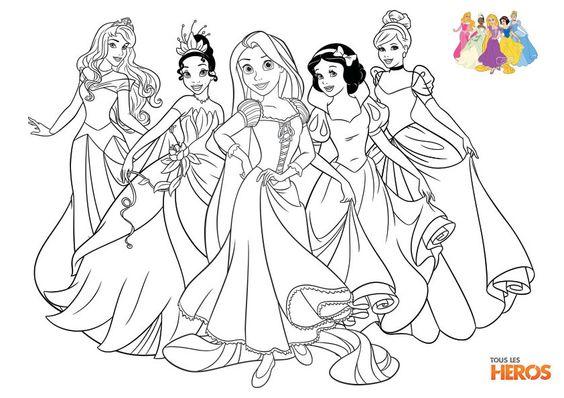 coloriez les princesses de disney coloriage sur coloriages de tlh. Black Bedroom Furniture Sets. Home Design Ideas