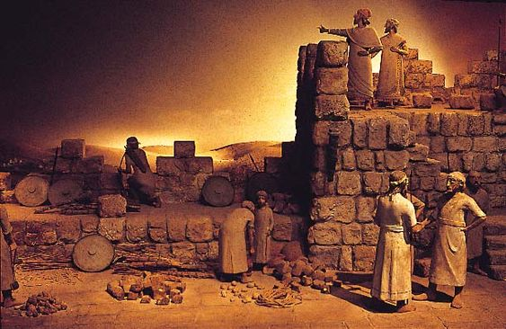 "4. Nehemiah building the wall: Nehemiah because of his position didn't stand by and watch while the other Israelites worked. He worked hard on the wall right alongside them. ""from the ascending of the dawn until the stars came out."" It was an amazing feat in only 52 days and they accomplished it in spite of tremendous opposition. Romans 12:1 Nehemiah 4:21;6:15"