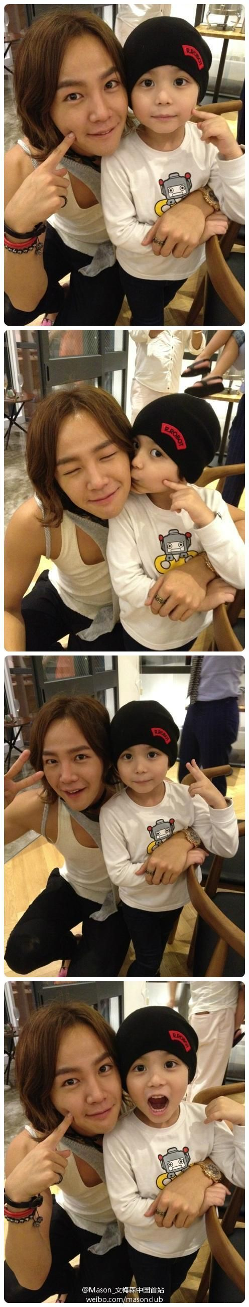 Jang Geun Suk reunion with Moon Mason his co-star (the baby) from Baby and Me. DIS TSO CUTE.: