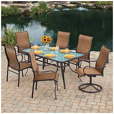 Wilson Fisher Delray 7 Piece Sling Dining Set At Big Lots Home Ou