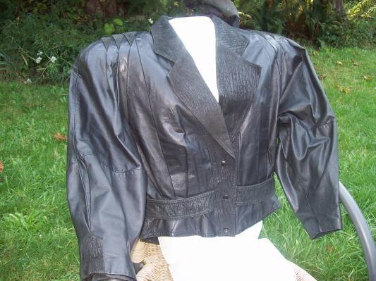 Vintage Retro 80's Ladies Genuine Leather Jacket Medium~Free shipping!