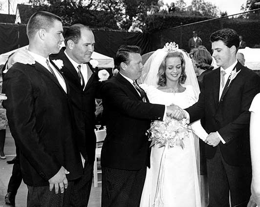 Today 4-20 in 1963: Ricky Nelson marries Kris Harmon at a church in Beverly Hills.  Kris is the daughter of college football legend Tom Harmon and brother of actor Mark Harmon. They have a very large reception held at the Beverly Hills Hotel.