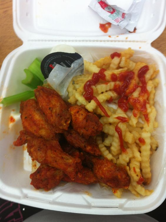 Hot wings and fries from American deli | Boot Up ...