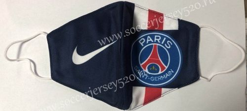 Paris Saint Germain Blue Face Mask Protect Anti Dust Mouth Cover Mask Dustproof Anti Bacterial Washable Reusable Addida Fabric Masks Tools In 2020 Blue Face Mask Face Mask Mask