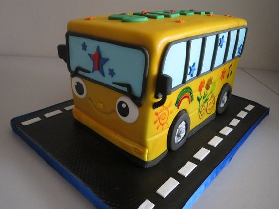 Wheels On The Bus..... Cake | Yelp http://cake.likebutterent.com