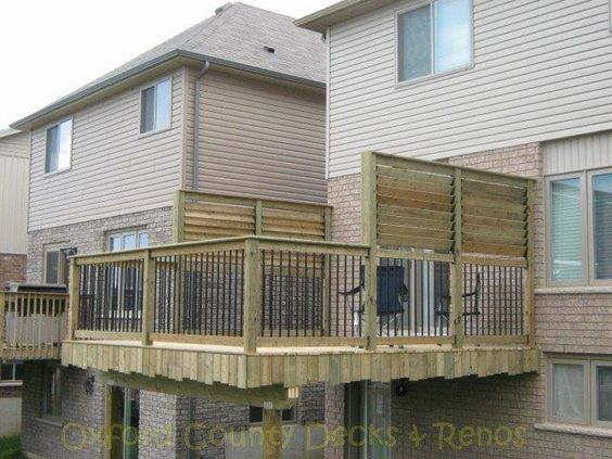 Great louvered privacy panels deck outdoor project ideas for Privacy shutters for deck
