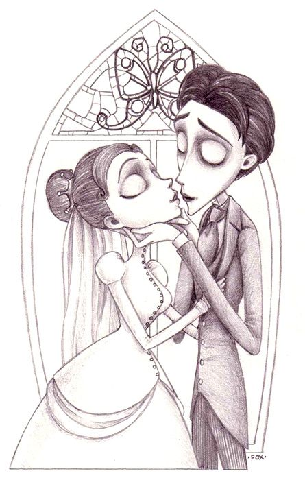 It is a graphic of Soft corpse bride coloring pages