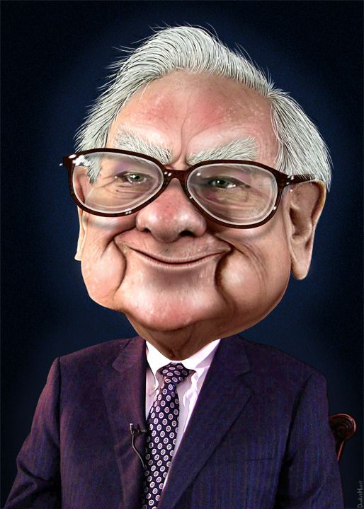 Warren Buffett - Caricature | by DonkeyHotey