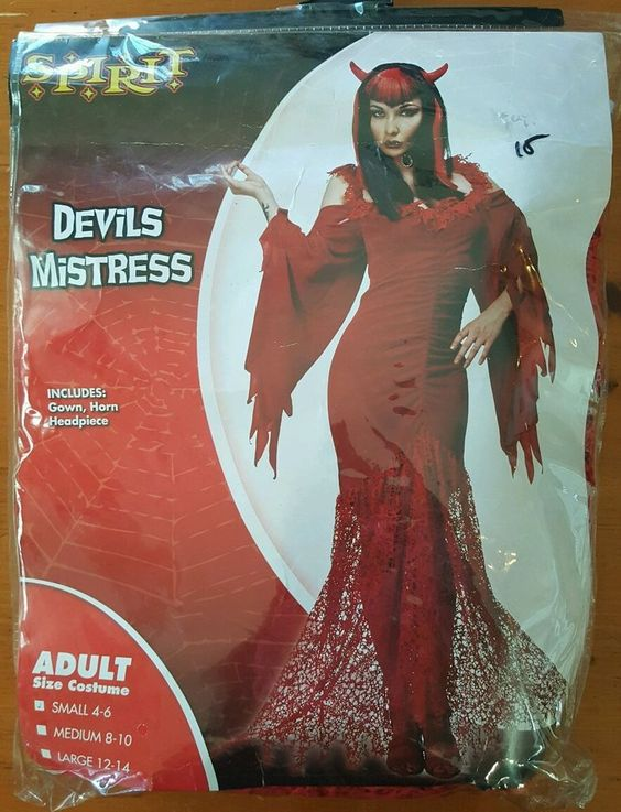 Red Devils Mistress Spirit  Costume Small 4-6  #Spirit #Dress