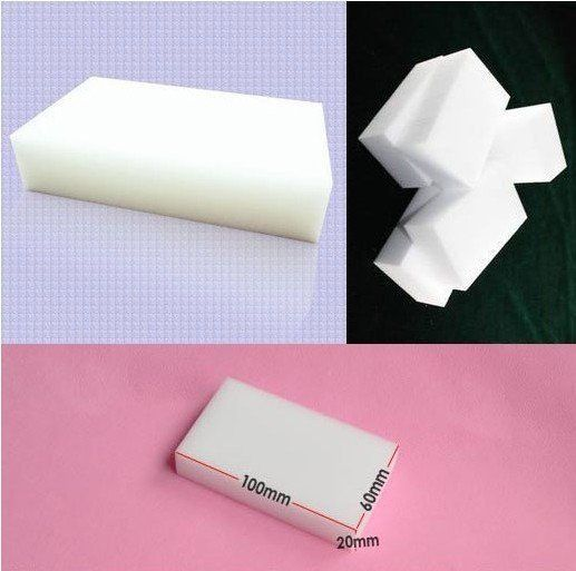 100 pcs/lot Wholesale White Magic Sponge Eraser Melamine Cleaner,multi-functional Cleaning 100x60x20mm  Free Shipping US $8.00