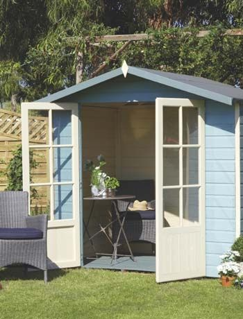 Turn a shed into a beach hut with a coastal makeover for Very small garden sheds