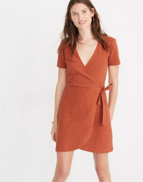 Natural Lambskin Leather Women Mini Wrap Around Dress With Tie Details Classic Mini Dress