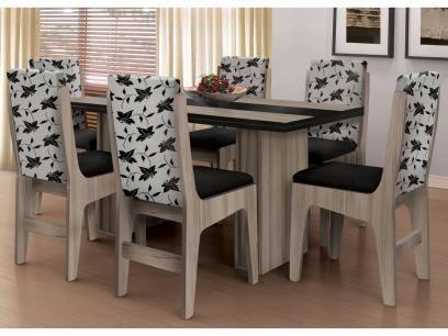 Conjunto de Mesa 6 Cadeiras Movale - Berlim com as melhores condições você encontra no Magazine Jbtekinformatica. Confira!