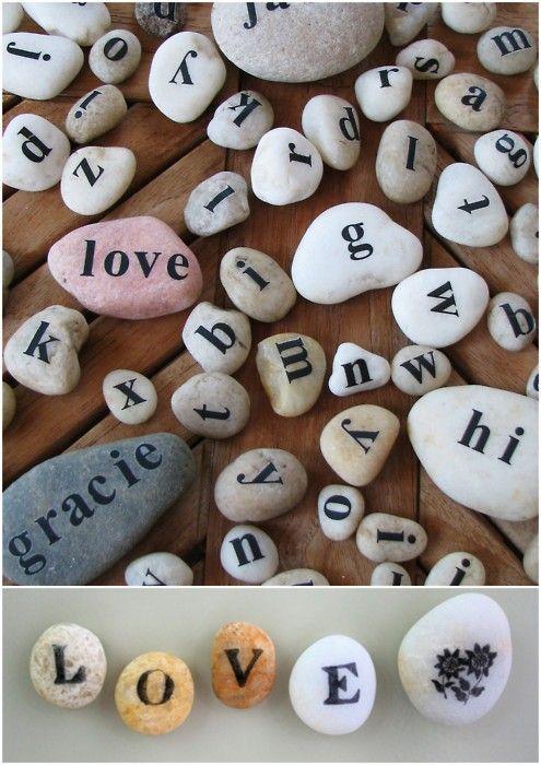 le Oui Blog - DIY: L'amour sur les galets (DIY: L'amour sur les galets)