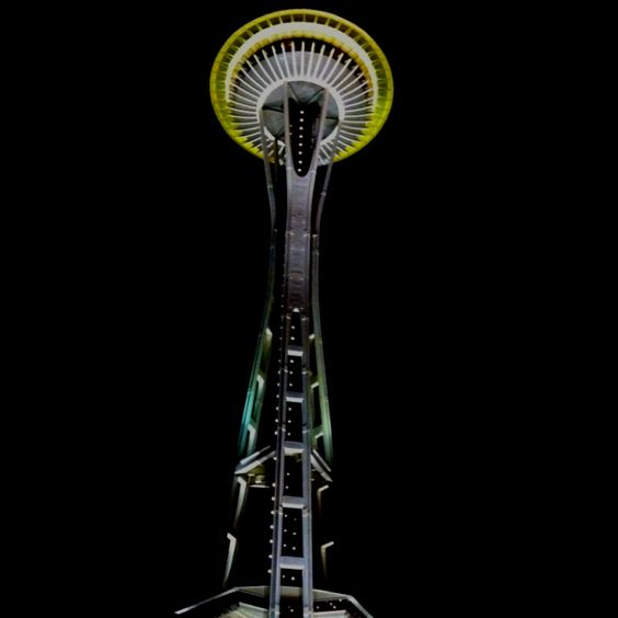 Space needle at night, I never get tired of it.