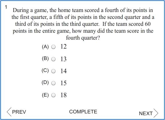 SAT scoring question?