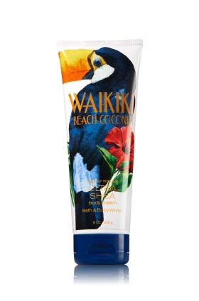 2017 Waikiki Beach Coconut - Ultra Shea Body Cream - Signature Collection - Bath & Body Works - Welcome to paradise! Key Fragrance Notes: a fresh, beachy blend of island coconut breeze over the sunswept white sands of Waikiki